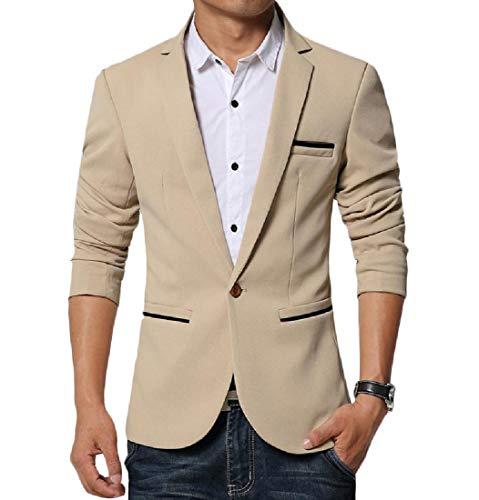 Aooword-mannen kleding heren 1 Knop Terug Split Fit Business Non-Iron Blazer Jas