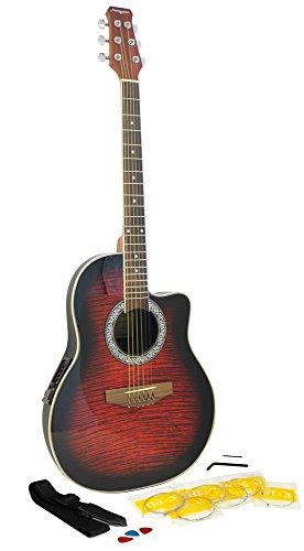 Martin Smith R202-RD - Guitarra electroacústica, color rojo