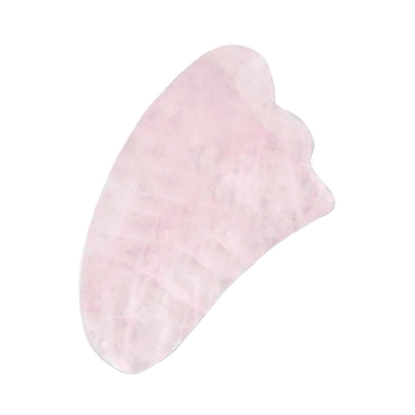 罰する厚いトリクルかっさプレート パワーストーン 美顔 天然石 ローズクォーツ 羽根型 ボディ マッサージ かっさマッサージ 刮痧 ウィング型 健康グッズ