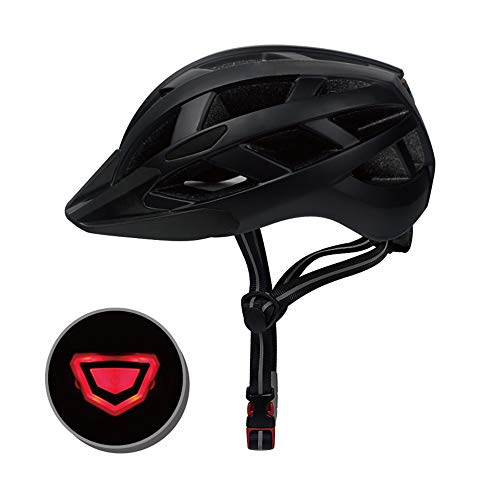 TYX Bike-Helm/Adjustable Fahrradhelme abnehmbare Feinstein und Futter 3 Modes Rear Safety LED Light 26 Air Vents Bike Helm Safety Light,Black,M(55~57cm)
