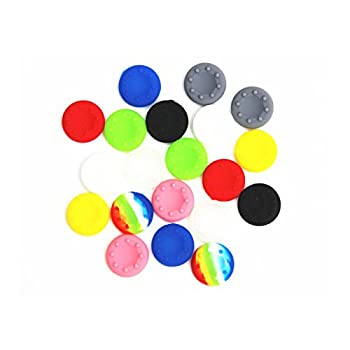 Feicuan Thumb Stick Cap Cover Case Silicone Replacement Parts Universal for PS4 Slim Pro PS3 Xbox360 Controller  Pack of 10