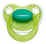BIBI SWISS HAPPINESS - HAPPY LOVELY DOTS Nr. 112940-2x Anatomische/Dental Silikone Schnuller/GREEN (6-16m+)