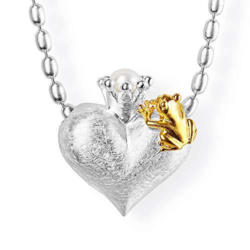 Diseño Mujer-colgante drachenfelshotel rana 925 plata parte dorado corte brillante perla agua dulce-perla cultivada blanco - D FR 371/AG