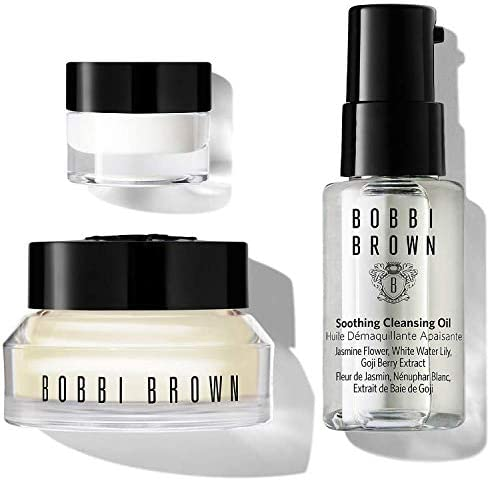 Bobbi Brown Travel Skincare Set Includes Vitamin Enriched Face Base Soothing Cleansing OIl and product image