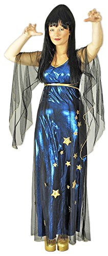 Het kostuumland kostuum magierin Elvira - heks toverer waarsagerin jurk voor dames