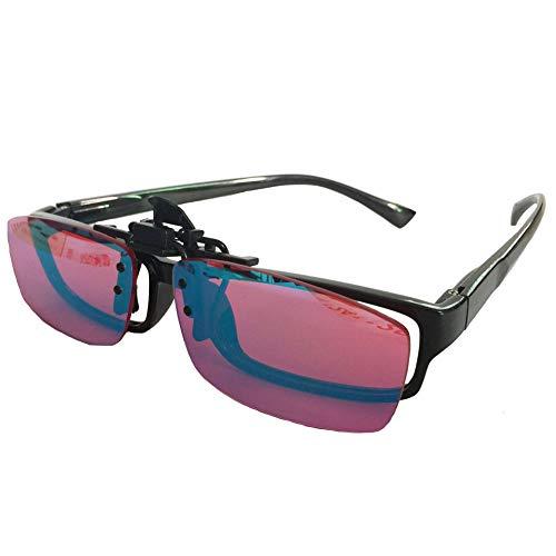 Evav-SMJ Farbenblind Glas-Rot-Grün-Blindheit Schwäche Korrektionsbrillen flippable Clip On Objektiv