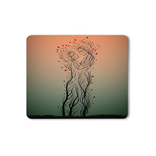 Moslion Two Trees Mouse Pad Like Man and Woman Hug Each Other Love Heart Abstract Art Nature Gaming Mouse Mat Non-Slip Rubber Base Thick Mousepad for Laptop Computer PC 9.5x7.9 Inch