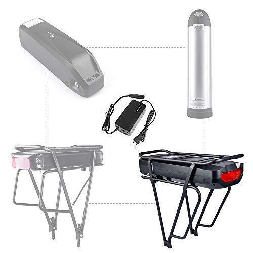 Junstar Elektro-Fahrradbatterie 48V 17,5Ah E-Bike Akku Ebike Lithium Batterie mit Fahrradträger Elektrischer Fahrradablage