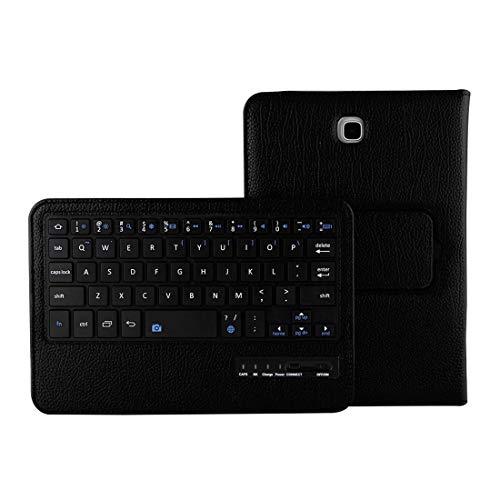 YEYOUCAI Accesorios para tabletas para Galaxy Tab A 8.0 / T350 2 en 1 Teclado Bluetooth Desmontable Funda de Cuero con Textura Litchi con Soporte