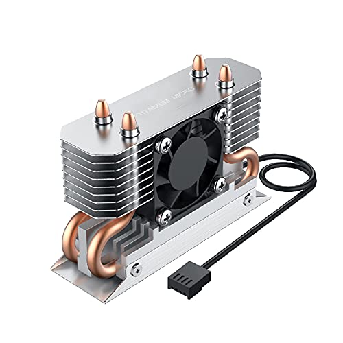 Titanium Micro TMHSFM3 Nitro M.2 NVME 2280 Heatsink Dual Cooler with 30mm PWM Fan