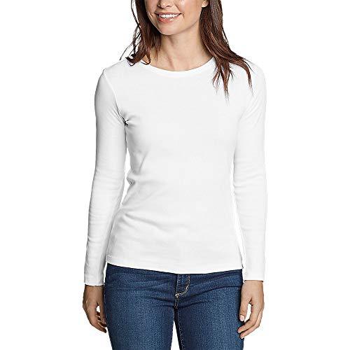 Eddie Bauer Women's Favorite Long-Sleeve Crewneck T-Shirt, White Regular L