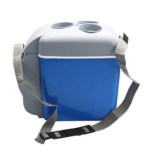 LIU UK Car Refrigerator Mini Auto KüHlschrank 7,5 Liter KüHlschrank Tragbare Elektrische KüHlbox WäRmer Gefrierschrank Outdoor Camping Picknick Reise - Blau