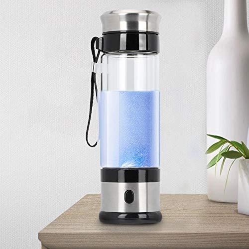YCGJ Bewegliche reiche Wasserstoff Wasser Generator, Wasser Ionisierer Elektrolysen, H2 Alkaline Bottle Sport Travel Flasche, USB aufladbare