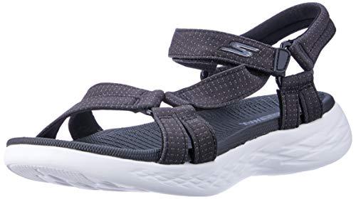 Skechers On-The-go 600-Brilliancy - Sandalias deportivas para mujer, Negro (Negro/Blanco), 40 EU