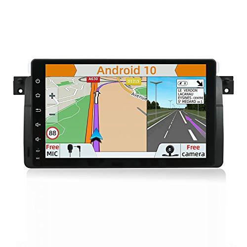 YUNTX Android 9.0 Autoradio Compatible Avec BMW E46   M3   3 series(1998-2005) - 2G32G - GPS 2 Din - Caméra arrière GRATUITES - Soutien Dab+   Commande au Volant   4G   WiFi   Bluetooth   Mirrorlink