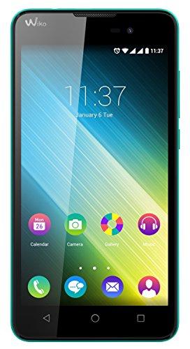 Wiko Lenny 2 Smartphone (12,4 cm (5 Zoll) IPS-Display, 1,3 GHz Quad-Core Prozessor, 8GB interner Speicher, 1GB RAM, Android 5.1 Lollipop) türkis