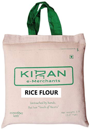 Kiran's Rice Flour /Powder, Eco-Friendly Pack, 5 lb (2.27 KG)