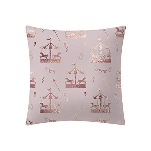 SANFASHION Housse de Coussin 40x40 Effet Lin Decoration Chambre Salon pour Canepe 40x40cm Beige 1 Pièce - K,45 * 45