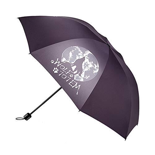 Planen Pavillon UV-beständig Falten Verstärken Doppelten Dreifachgefalteten Schirmschirm ZHANGAIZHEN (Farbe : Purple-8 Bone Wolf)