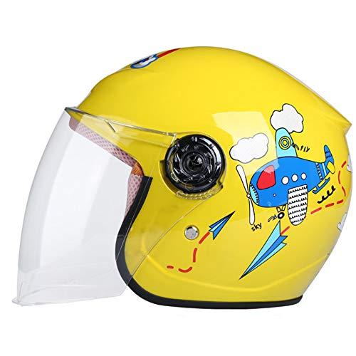 SULUO Casco de Motocicleta para niños, Casco Protector para niños, Motocicleta, Coche eléctrico, Cuatro Estaciones, Dibujos Animados, Lindo Casco de Seguridad para niños,D