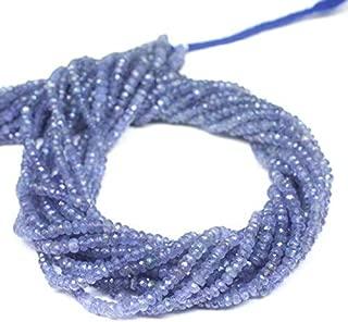 "Jewel Beads Natural Beautiful jewellery Natural Blue Tanzanite Faceted Rondelle Gemstone Loose Beads Strand 13"" 3.5mmCode:- JBB-47522"