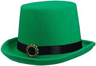 "Amscan Green Plain Fabric Adult Top Hat, 6"" x 13"""