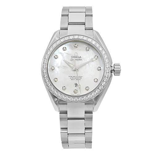 Omega Seamaster Aqua Terra Reloj automático para mujer con cronómetro de diamante 23115342055002