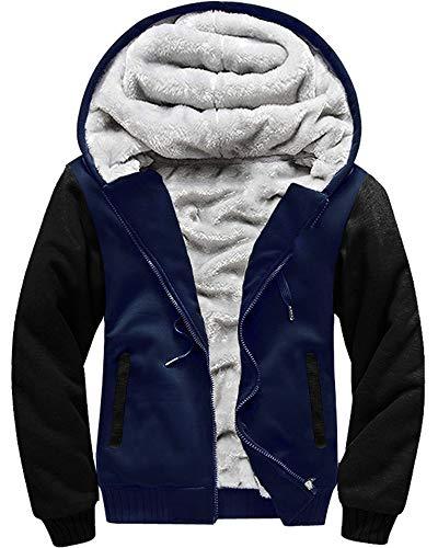 Men 's Classic Zip Windproof Warm Fleece Jacket
