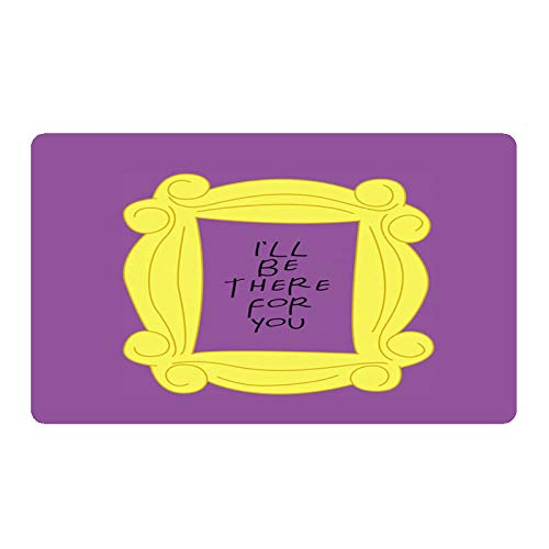 """TIANTUR Funny Friends TV Show Funda de Almohada Friends Central Perk Felpudo Decoración del hogar Entrada Alfombra de Puerta de Franela Antideslizante Impermeable Tapete Decoracion 16""""x24"""""""