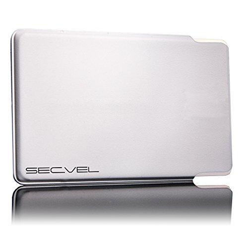 SECVEL TÜV geprüfte und patentierte Schutzhülle 5-Fach Kartenschutz - Weiß | RFID NFC Blocker | Magnetfeld Abschirmung | Störsender für Kreditkarte, EC Karte, Personalausweis | 100% Aktiv Schutz