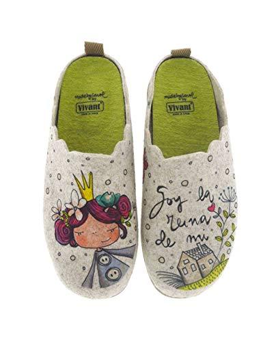 Zapatillas de casa para Mujer Fabricadas en España Vivant 202570 Beig - Color - Beige, Talla - 35