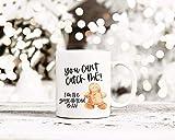 Taza de café con texto en inglés'You Can't Catch Me I'm The Gingerbread Man', taza de jengibre, taza de Navidad, taza de invierno, taza de café de granja
