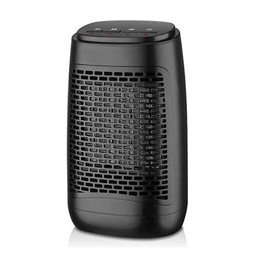 NIUFG Calentador de Ventilador eléctrico portátil, termostato de calefacción rápida, Calentador eléctrico, Calentador de Aire, calefacción de Invierno para el hogar, 1200W (Color : Black B)