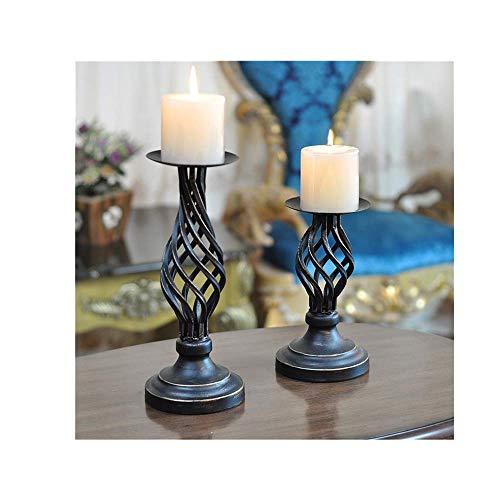 99native Kerzenhalter,Aushöhlen Art-Schmiedeeisen Kerzenleuchter Kerzenständer,Schick und Romantisch Kerzenteller Kerzenstecker Stabkerze für Partys, Hochzeiten (A)