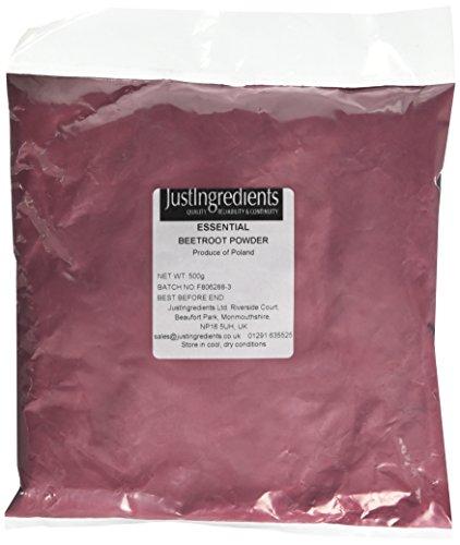 Justingredients Polvere di Barbabietola - 2 Confezioni da 500 G