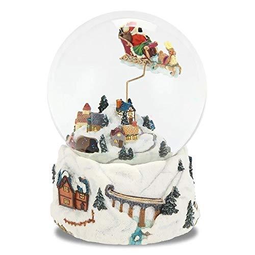 Niño Navidad Cristal Bola de Nieve Bola de Cristal Caja de música Artesanía Boda de Escritorio Año Nuevo 12 * 16.5CM