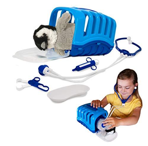 My Little Vet Maletín Veterinario - Set Bebé Pingüino de Deluxebase. Kit Veterinario de Juguete para niños. Un Lindo Kit con diseño de Animales Ideal para Juegos de simulación.