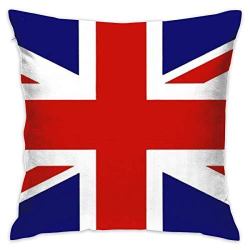 Elsaone Bandera británica Gran Bretaña Inglés Inglaterra Fundas de Almohada Decorativas cuadradas Cojines Coloridos Fundas de Almohada 18 X 18 Pulgadas 45 X 45 cm