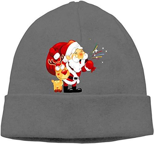 Skull Cap Solid Hedging Cap Uhr Cap Weihnachtsmann Unisex Beanie Hats Schwarz