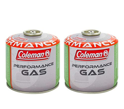 Prime 2 Pezzi BOMBOLETTA Cartuccia A Gas Coleman C300 Performance A Filetto con 240 GR di Gas (Mix BUTANO/PROPANO) Tutti I Prodotti Coleman CONNESSIONE A Vite