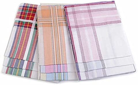 6pc 1 Mix of Random Colours Light Ladies Handkerchief, Women Children Handkerchiefs, Fashion Accessories