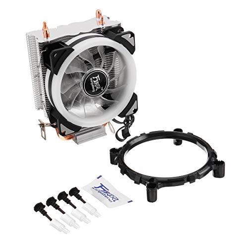 Condensadores Doble Tubo de Cobre Aurora DIY Juego Ventilador de refrigeración Radiador CPU para 775 / 115x / 1366 / Serie AMD 9cm