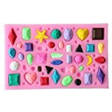 Gema Diamond Moldes de silicona para fondant, herramientas de decoración de tartas, moldes de chocolate