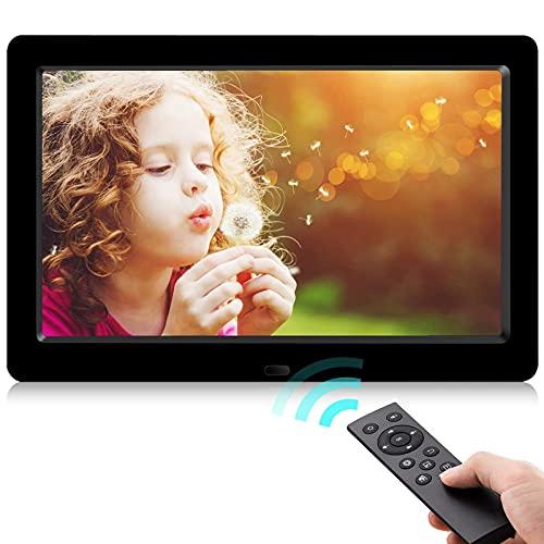 Digitaler Bilderrahmen,Neuestes UI-Design YENOCK 8,2 Zoll 1280 x 720 Voll IPS-Foto- / Musik- / Videoplayer-Kalenderalarm mit Fernbedienung Digitaler Bilderrahmen