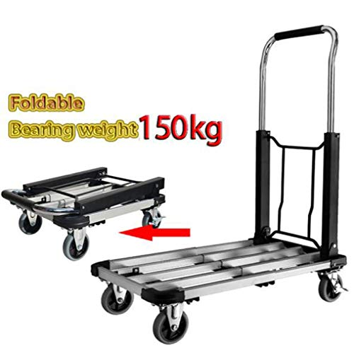 Heavy Duty 150kg Loading Capacity Folding Foldable Hand Sack Truck Barrow Cart Trolley Industrial Warehouse Hand Truck, Sack Truck for Luggage, Travel, Moving Office