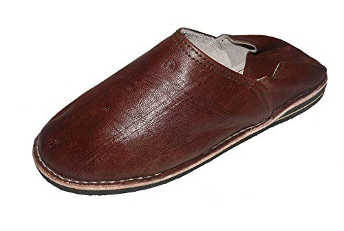 Marrakech Accessoires Orientalische Leder Schuhe Pantoffeln Hausschuh Slipper - Herren/Damen/Unisex - 905586-0011, Schuhgrösse:44