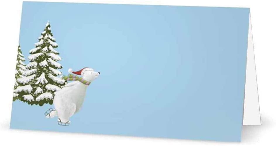 Christmas Polar Bear Place Cards - Limited Special Price 10 Packs or Tent 50 Style San Diego Mall