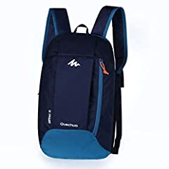 Material:Water and Tear Resistant Nylon material. Adjustable shoulder straps; Two main compartments Capacity:10L, Dimensions:15.7*9.1*3.9 Inch, Weight:5.6 oz / 0.160 kg Fits Ipad,Textbook,Purse,Phone,Clothes and Pens High value of money, very good fo...