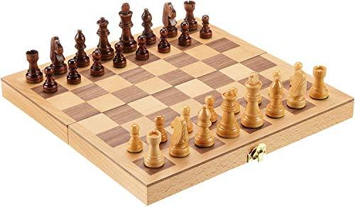 Philos 2708 - Schach, Schachspiel, Schachkassette, Feld 33 mm, Königshöhe 64 mm, Holz