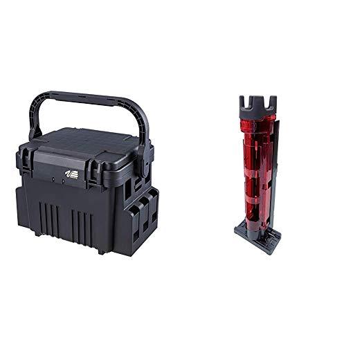 メイホウ(MEIHO) VS-7080(ランガンシステムボックス). & ロッドスタンドBM-250 Light クリアレッド×ブラック【セット買い】